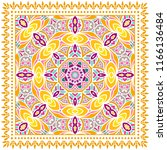 decorative colorful ornament on ... | Shutterstock .eps vector #1166136484