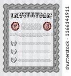 grey formal invitation template.... | Shutterstock .eps vector #1166141911