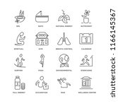 set of 16 simple line icons... | Shutterstock .eps vector #1166145367