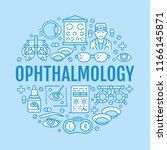 ophthalmology  eyes health care ... | Shutterstock .eps vector #1166145871
