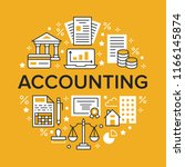financial accounting circle... | Shutterstock .eps vector #1166145874