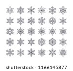 cute snowflakes collection... | Shutterstock .eps vector #1166145877
