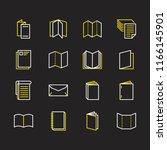brochure flat line icons.... | Shutterstock .eps vector #1166145901