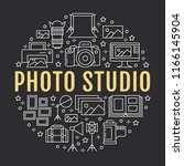 photography equipment poster... | Shutterstock .eps vector #1166145904