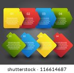colorful progress step with... | Shutterstock .eps vector #116614687