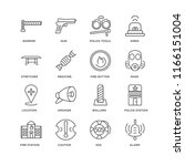 set of 16 simple line icons... | Shutterstock .eps vector #1166151004