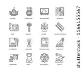 set of 16 simple line icons... | Shutterstock .eps vector #1166155567