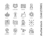 set of 16 simple line icons... | Shutterstock .eps vector #1166155801