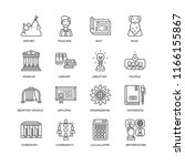set of 16 simple line icons... | Shutterstock .eps vector #1166155867