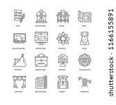 set of 16 simple line icons... | Shutterstock .eps vector #1166155891