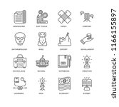 set of 16 simple line icons... | Shutterstock .eps vector #1166155897