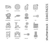set of 16 simple line icons... | Shutterstock .eps vector #1166156221