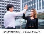 business lover couple is hi... | Shutterstock . vector #1166159674