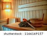russian sauna broom   sauna... | Shutterstock . vector #1166169157