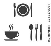 set of cafe icons on white... | Shutterstock .eps vector #1166170084
