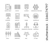 set of 16 simple line icons... | Shutterstock .eps vector #1166174797