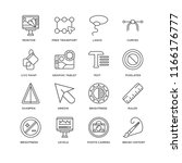 set of 16 simple line icons... | Shutterstock .eps vector #1166176777