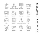 set of 16 simple line icons... | Shutterstock .eps vector #1166179294