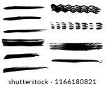 grunge vector dry brush strokes ... | Shutterstock .eps vector #1166180821
