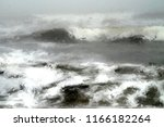 Digital Painting Of A Wavy Sea