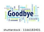 goodbye word cloud | Shutterstock .eps vector #1166183401
