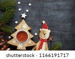 christmas decoration background ...   Shutterstock . vector #1166191717