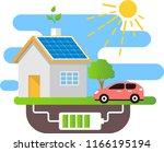 solar battery provides... | Shutterstock .eps vector #1166195194