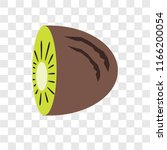 kiwi vector icon isolated on... | Shutterstock .eps vector #1166200054