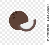 coconut vector icon isolated on ... | Shutterstock .eps vector #1166200084