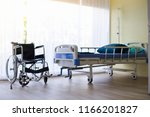 wheelchair and hospital bed at...   Shutterstock . vector #1166201827