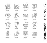 set of 16 simple line icons... | Shutterstock .eps vector #1166202217