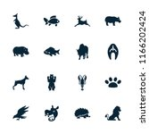 wildlife icon. collection of 16 ... | Shutterstock .eps vector #1166202424