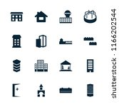 building icon. collection of 16 ... | Shutterstock .eps vector #1166202544