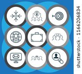 corporate icons set with... | Shutterstock .eps vector #1166206834