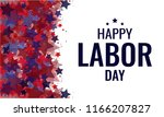 labor day greeting card or... | Shutterstock .eps vector #1166207827