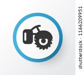 milling machine icon symbol.... | Shutterstock .eps vector #1166209951