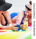 summer lifestyle portrait of...   Shutterstock . vector #1166211541