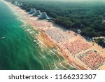 aerial drone view of albena... | Shutterstock . vector #1166232307