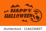 halloween logo design lettering.... | Shutterstock .eps vector #1166236837
