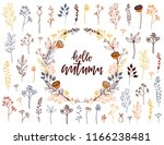 autumn floral collection. set... | Shutterstock .eps vector #1166238481