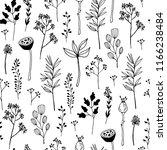 seamless pattern. autumn leaves ... | Shutterstock .eps vector #1166238484