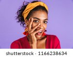 close up portrait of a happy... | Shutterstock . vector #1166238634