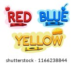 illustration of primary colors... | Shutterstock .eps vector #1166238844