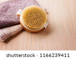 brush for dry body massage  ... | Shutterstock . vector #1166239411