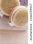 brush for dry body massage  ... | Shutterstock . vector #1166239417