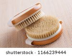 brush for dry body massage  ... | Shutterstock . vector #1166239444