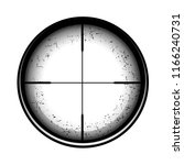 optical sight on a white... | Shutterstock . vector #1166240731