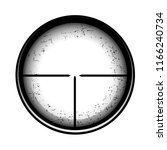 optical sight on a white... | Shutterstock . vector #1166240734