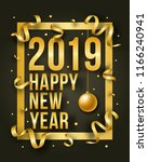 vector happy new year... | Shutterstock .eps vector #1166240941