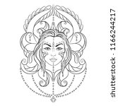 vector illustration of exotic... | Shutterstock .eps vector #1166244217